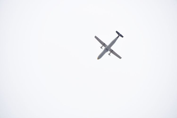 Flying plane Airplane Flying Transportation Airshow Air Vehicle No People Aerospace Industry Fighter Plane Aerobatics Outdoors Day Sky Jet Plane White Sky Background Plane Flying Aeroplane Aeroplane In The Sky Flying Objects Flying Objects Minimalism Be. Ready.