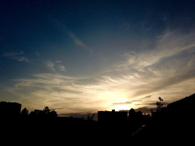 Blue Sky Sun Sunset Clouds And Sky Clouds Sky Silhouette Limmattal