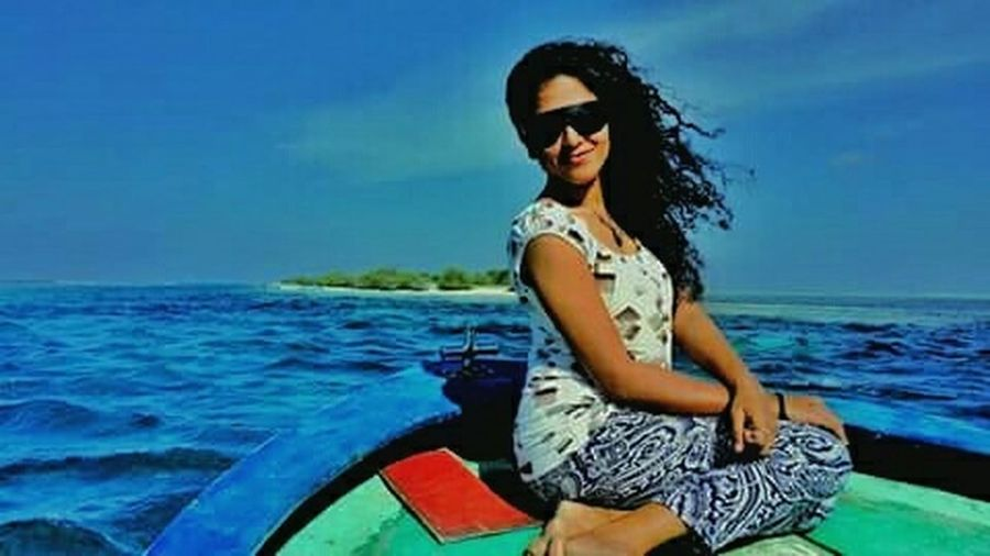 Hotgirl EyeEmBestPics EyeEm Best Shots Beautiful Day My Country In A Photo Islandgirl Hello World Green Day Blue Ocean Blue Sky one of my best pic. 😘🌷