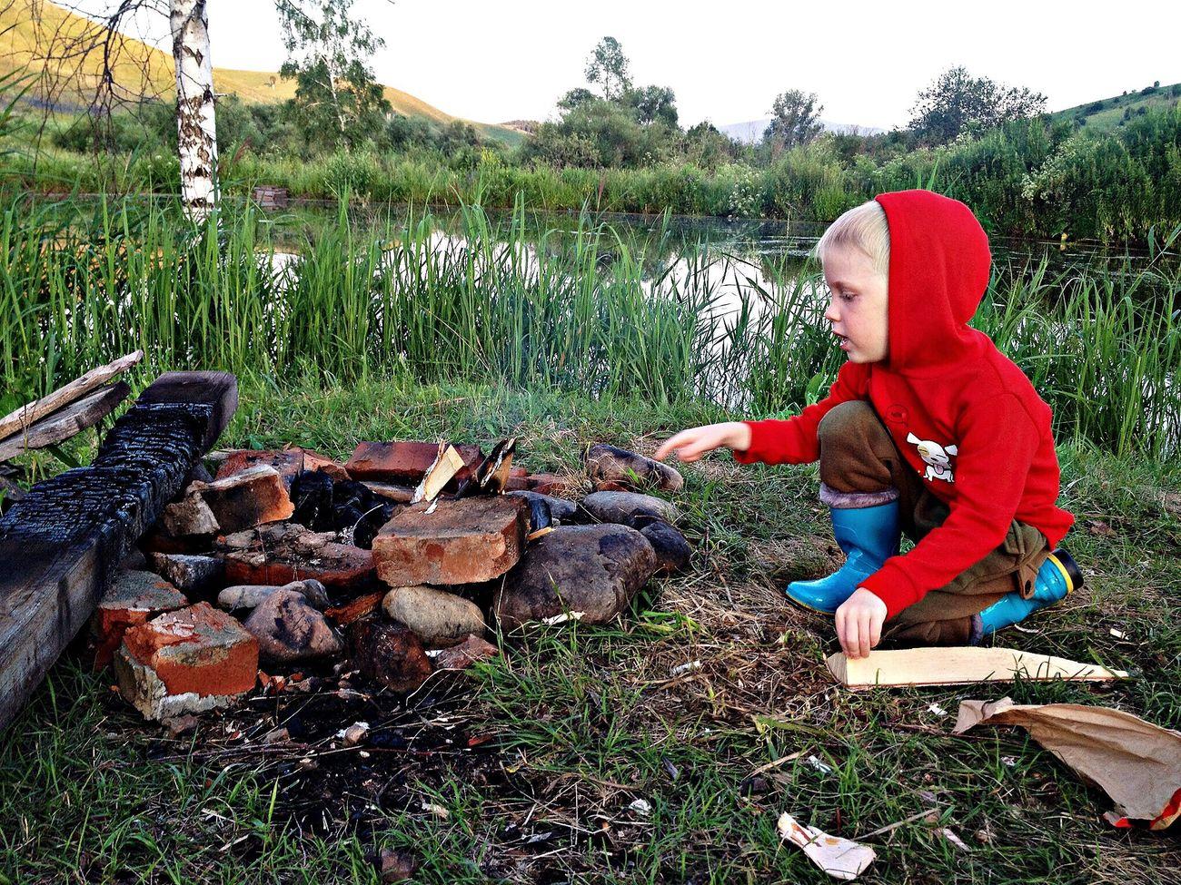 Рыбалка рядом с озером айченок