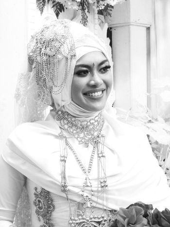 The Bride... Weddings Around The World. Woman Portrait Blackandwhite SmilingFace Indonesian