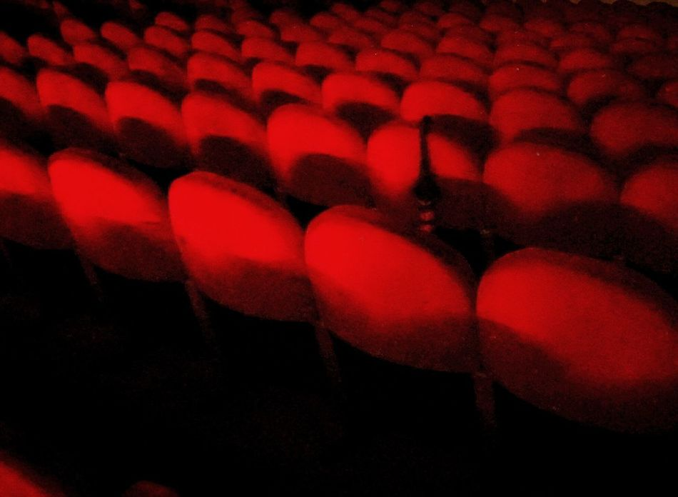 Full Frame Indoors  Textured  Pattern Design Repetition Red Fabric Cinema Cinema Chairs Chairs Umbrella No People Textile Ricordi di pomeriggi al cinema