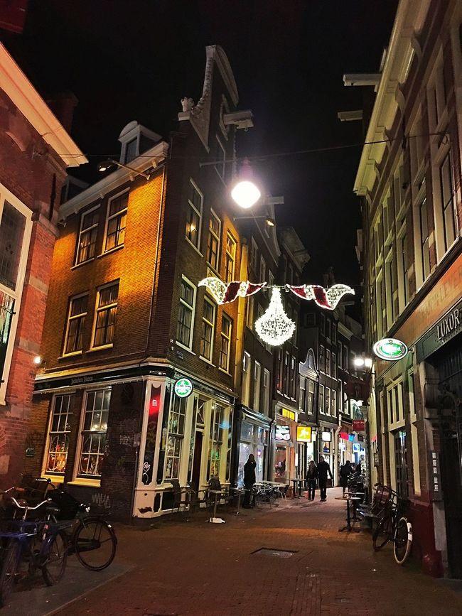 Amsterdam Amsterdamcity Architecture Beautiful Building Exterior City City City Life City Street Citylife Holland Iamamsterdam Illuminated Netherlands Niederlande Night Oldtown Street Street Light