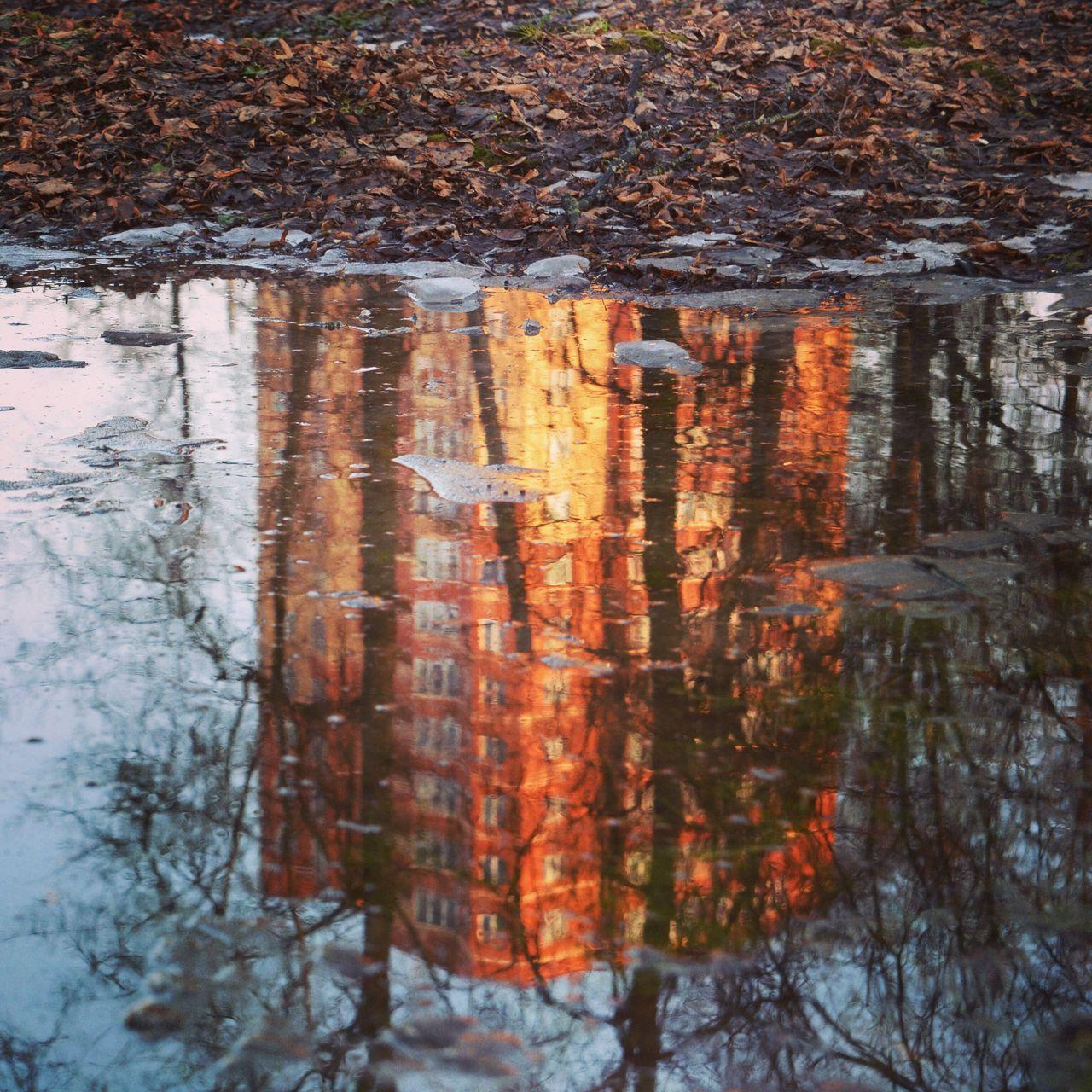 Reflection Tower Москва Moscow отражение отражение в воде здание дом осень Autumn Water