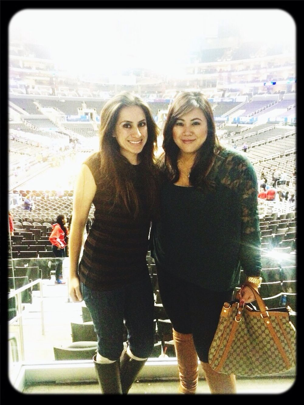 Time spent with Sandy LAClippers Clippers Game ClippersNation Clippersvslakers #dtla #girltime