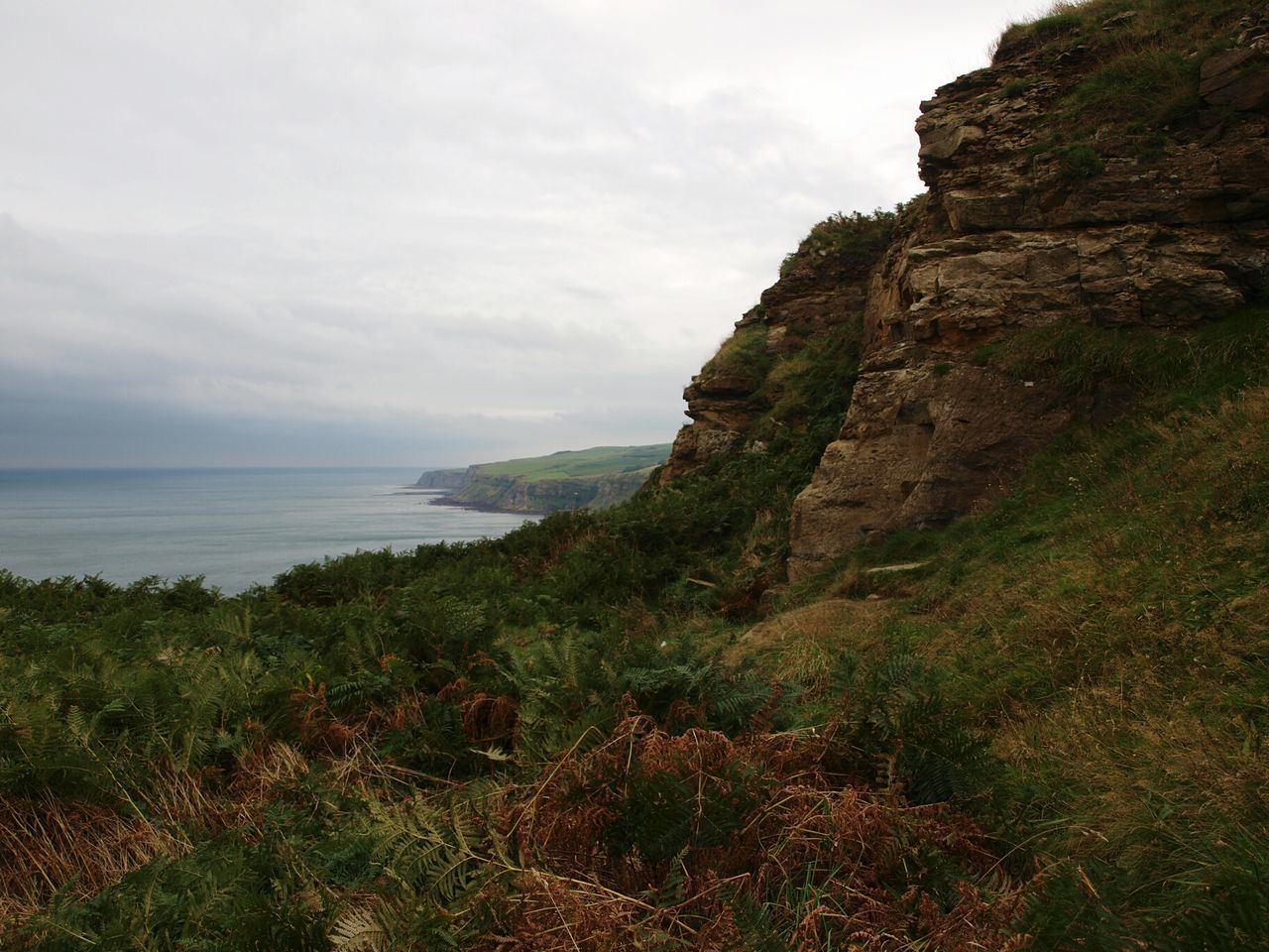 Sea Landscape Horizon Over Water Beauty In Nature Scenics Beach Coastline Cliffs Coast Cliff View Shore Water Cliff Edge Seascape Coastal Walk Clouds Cloudy Sky North Sea View Yorkshire Coast