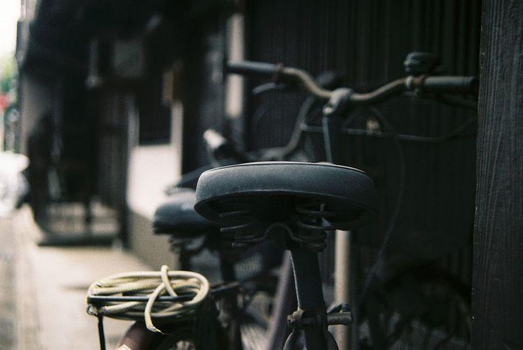 Bikes Old House Building Exterior Close-up Cityscape Oshikoji Kyoto Japan Film Photography Pentax KM Tefnon 35-70 Fuji C200 3XSPUnity
