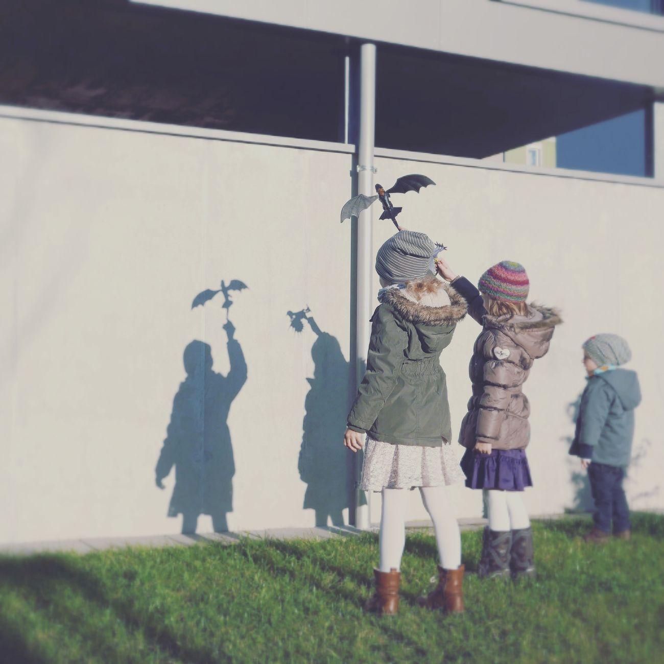 Kids Playing Kids Fantasy Playing Light And Shadow Urban Life