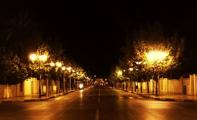 Lights Beautiful Oujda My City Oujda City سبحانك ربي الحمد_لله Evening Lights Oujda City, Morocco Morocco Evening Avenue Urban City Life City Lights