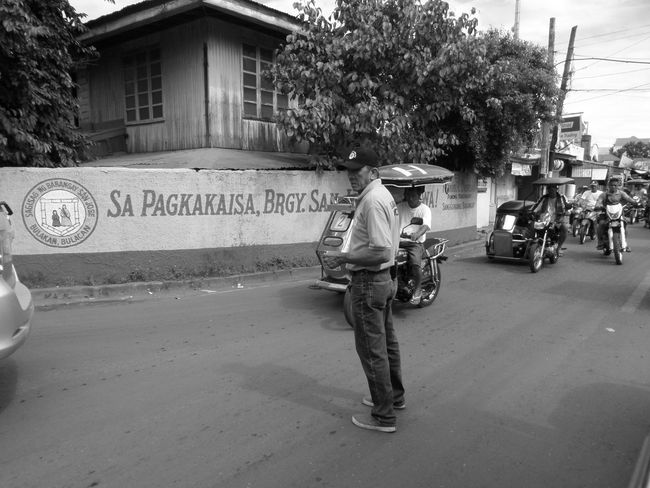Streetphotography Black And White Man Standing Traffic Enforcer