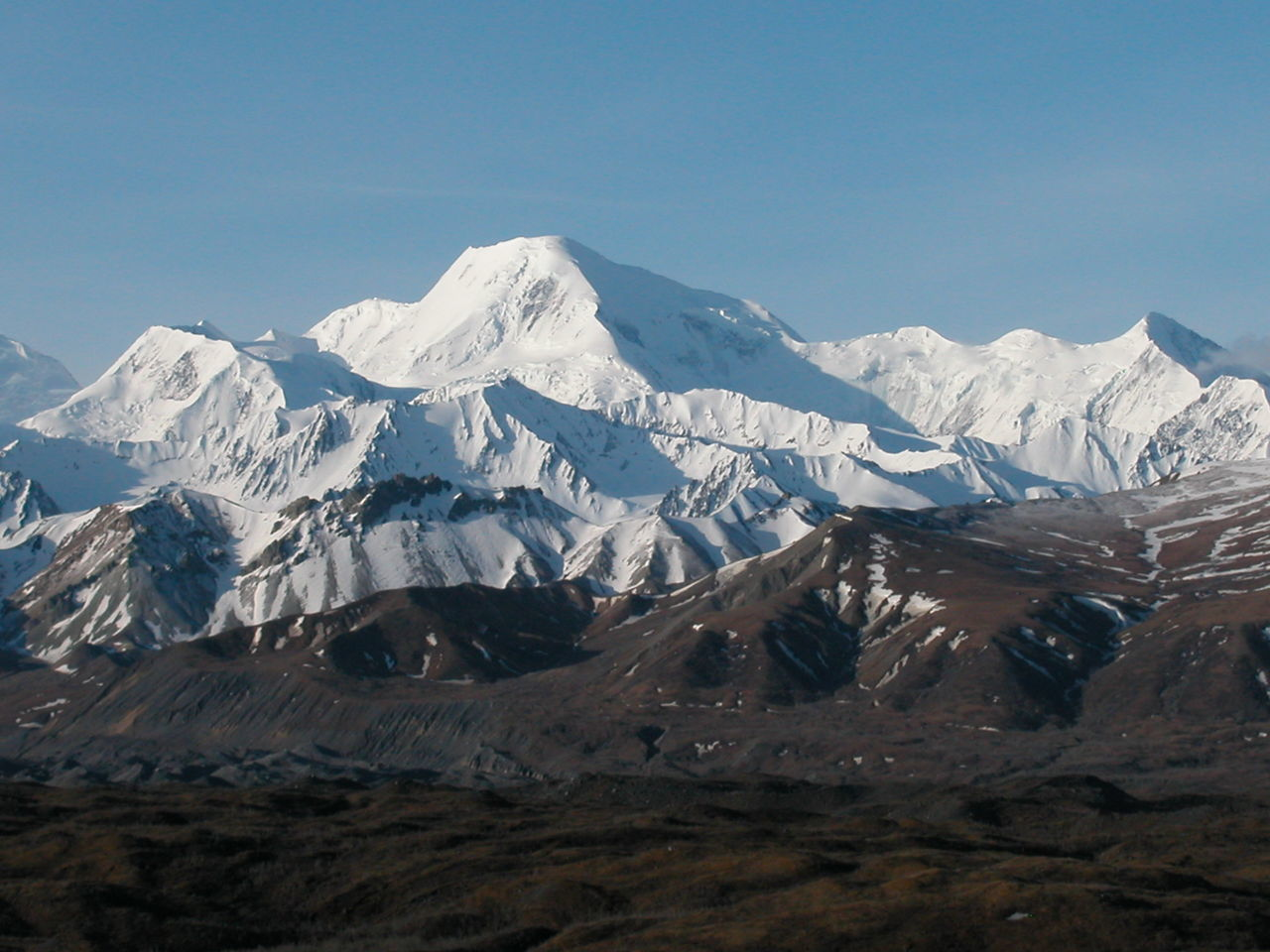 Alaska Beauty In Nature Day Landscape Mountain Mountain Range Mt Denali Mt McKinley Nature No People Outdoors Scenics Sky Snow Snowcapped Mountain Tranquility