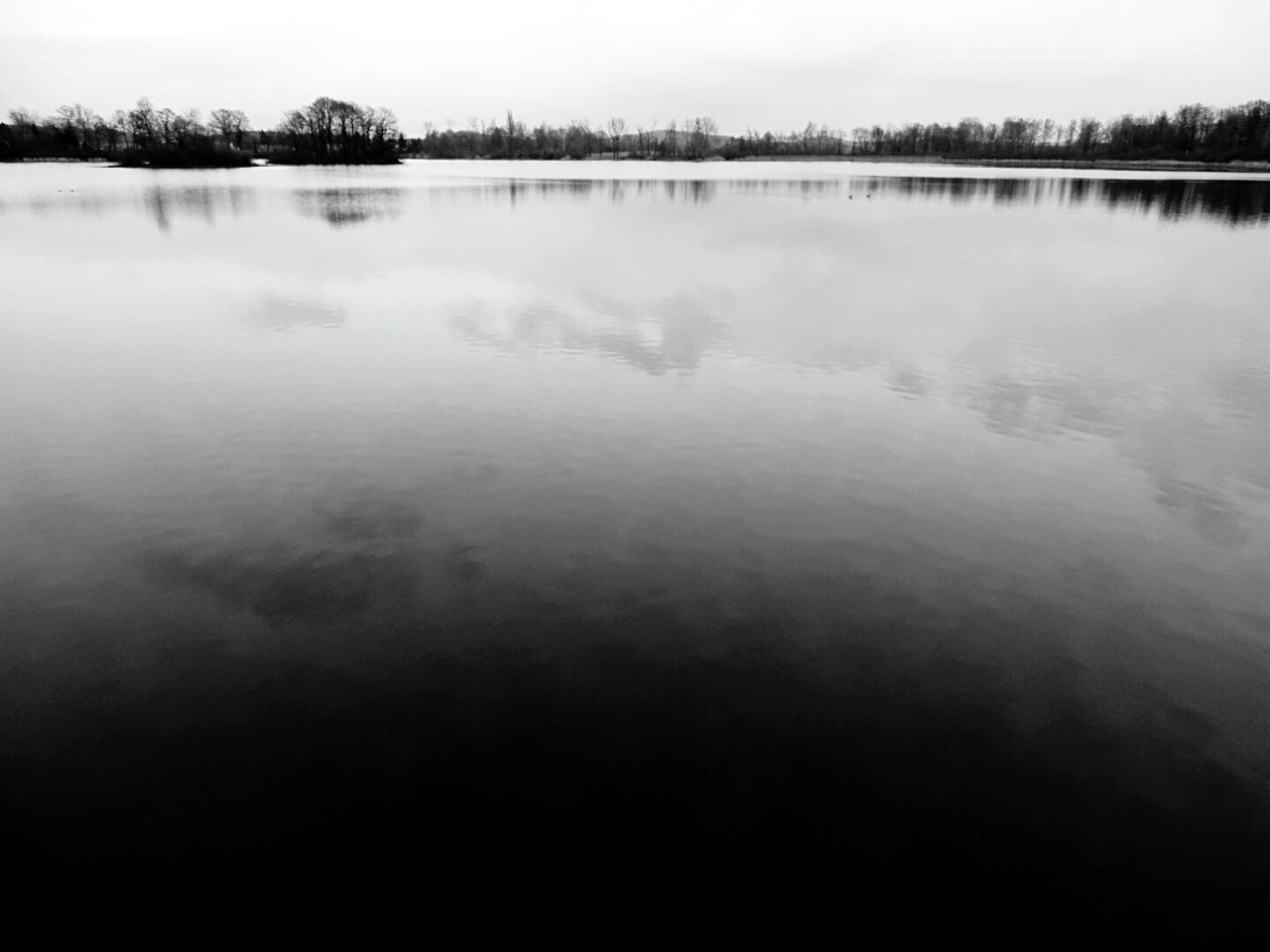 Black & White Water Reflections Lake View Lost In The Moment Grey Weather Peace And Quiet Pause Time.