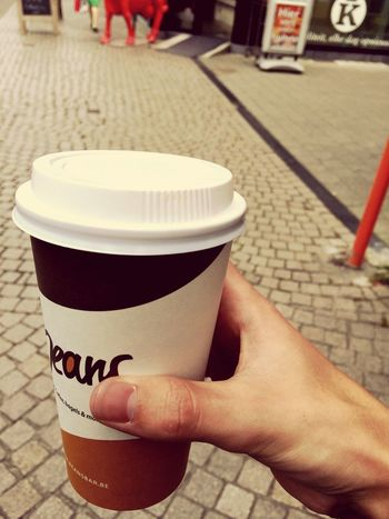 Marshmallows coffee! @beans Outdoors Focus On Foreground Marshmallows Coffee Food Tasty