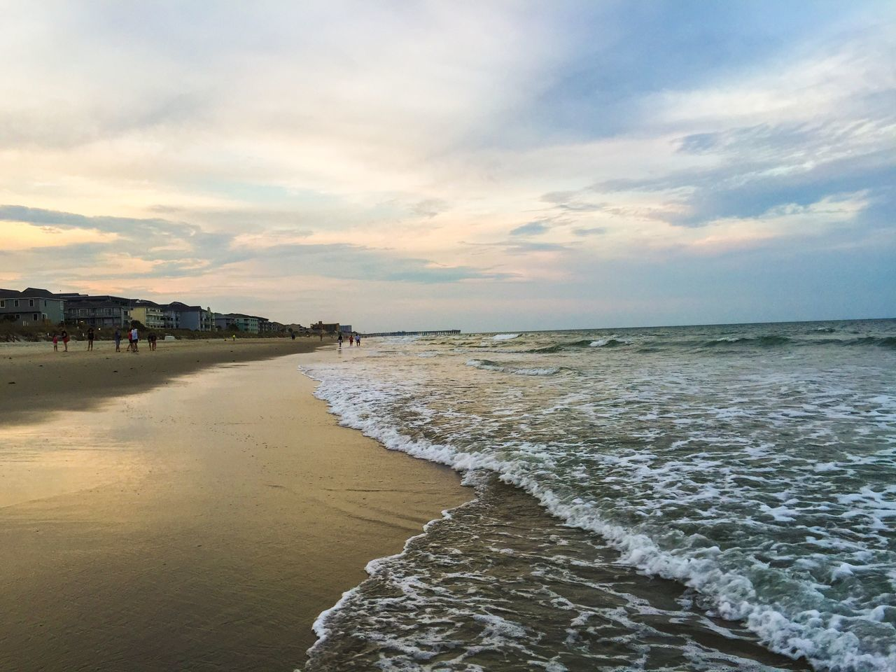 Watching the sea. Beach Foam Ocean Sand