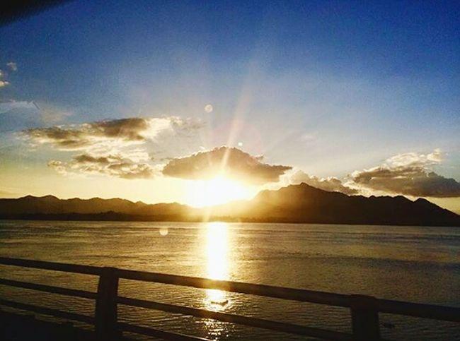 Sanjuanicobridge Sanjuanicobridgeview Sunset Nature Light And Shadow Philippines