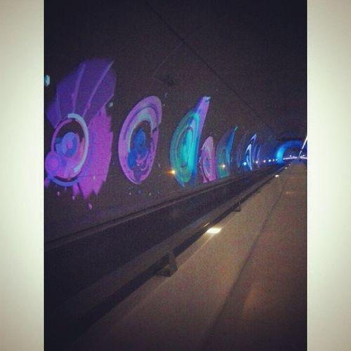 Tunel Croix Rousse Lyon France Ville Luces Proyector