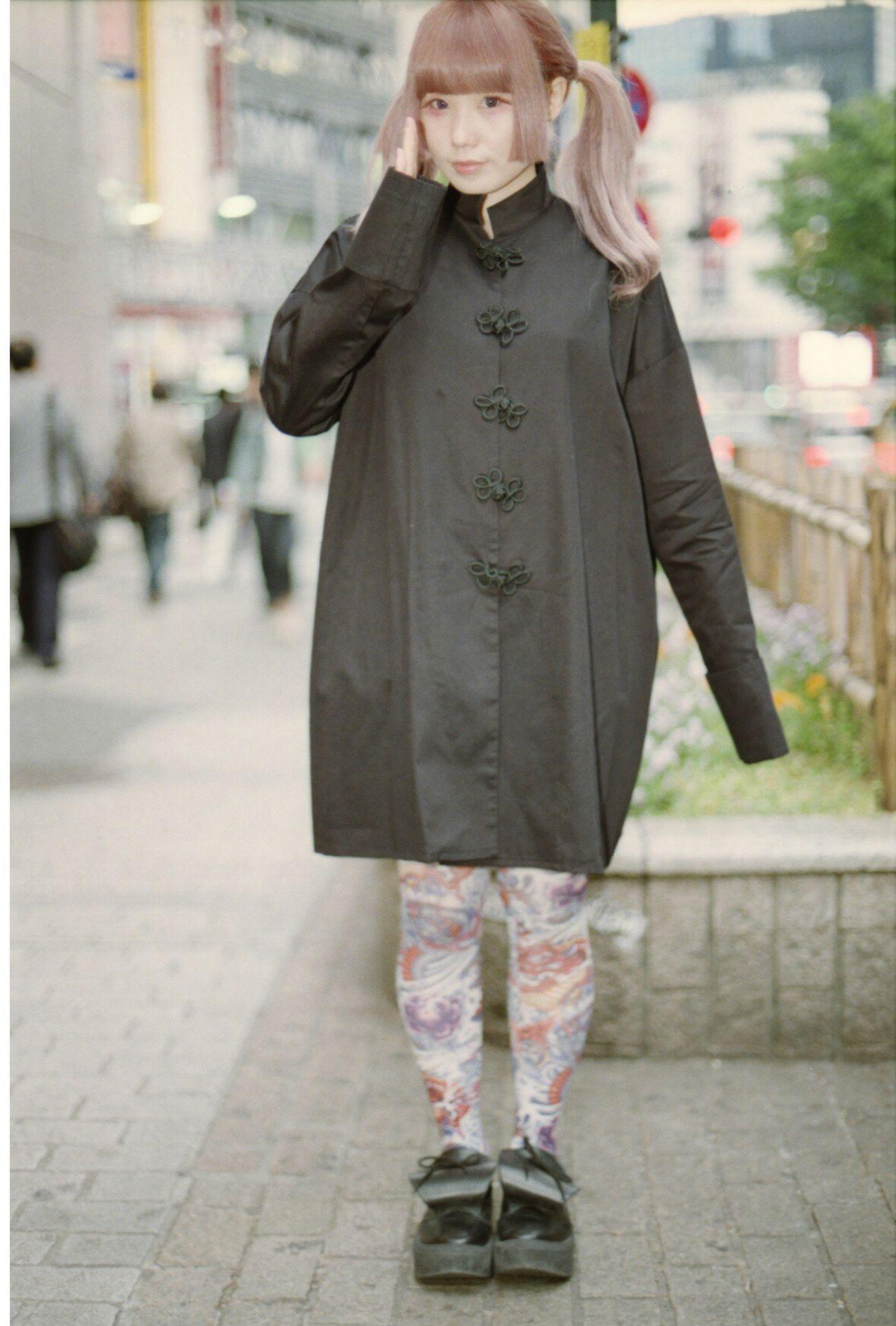 ぽこあぽこスタッフスナップ チャイナ服にそれっぽいタイツを履いてみたらエキゾチックでミステリアスな雰囲気 #ぽこあぽこ #タイツ #tights #shibuya109 http://goo.gl/avNXpA ぽこあぽこ タイツ Pocoapoco Tights Shibuya109 マルキュー