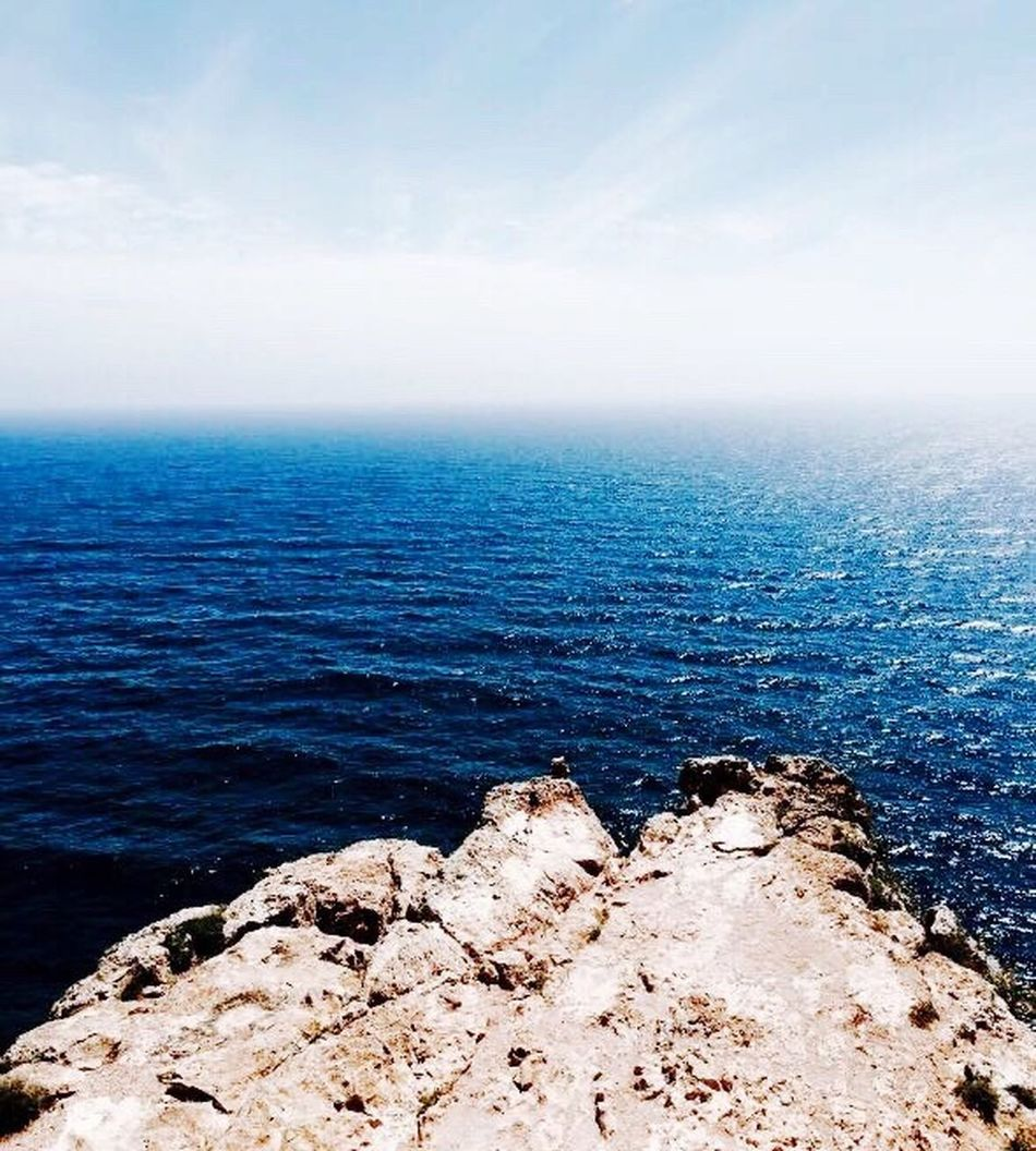 Beach Beauty In Nature Formentera Formentera Island Horizon Horizon Over Water Infinity Landscape Nature Outdoors Rock - Object Scenics Sea Sea Stack Sky SPAIN Tranquility Water First Eyeem Photo