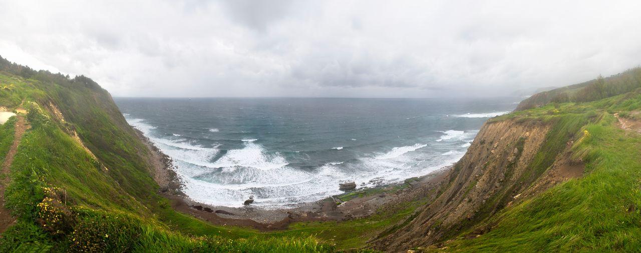 Atlantic Basque Country Cantabric Sea Cantábrico Coast Coastline Euskadi Euskal Herria Euskalherria Landscape Ocean Pais Vasco Panorama Panorama View Panoramic Panoramic Landscape Panoramic Photography Panoramic View Sea Storm Landscapes With WhiteWall