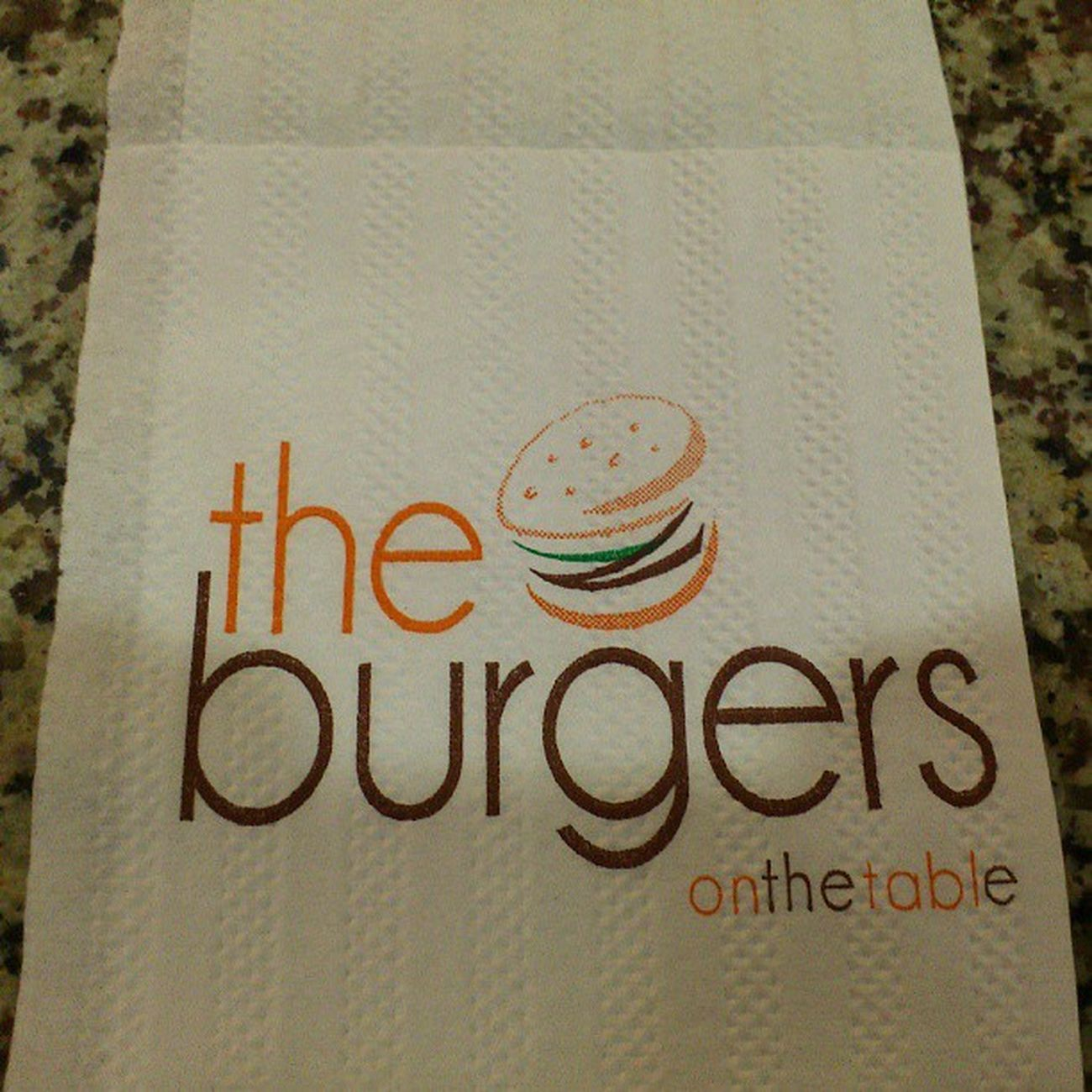 The Burgers WERE on the table