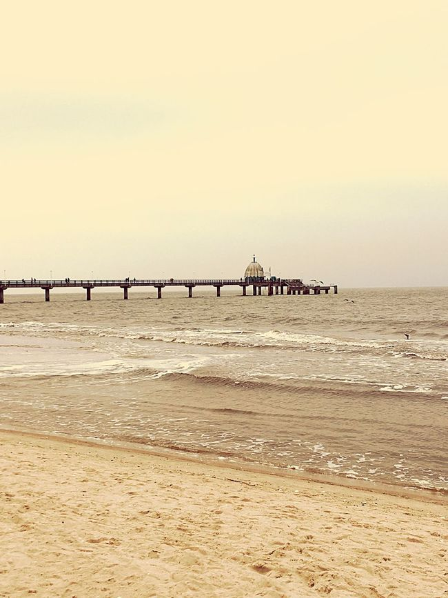 Sea Beach Shore Wave Pier Seascape Zinnowitz Baltic Sea Usedom Sand Water Sky