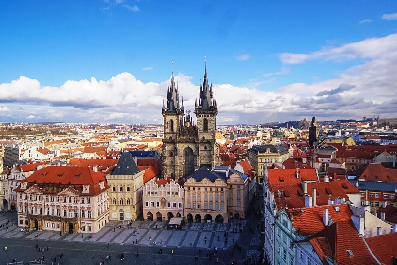 Beautiful stock photos of prague,  Aerial View,  Bridge - Man Made Structure,  Building Exterior,  Built Structure
