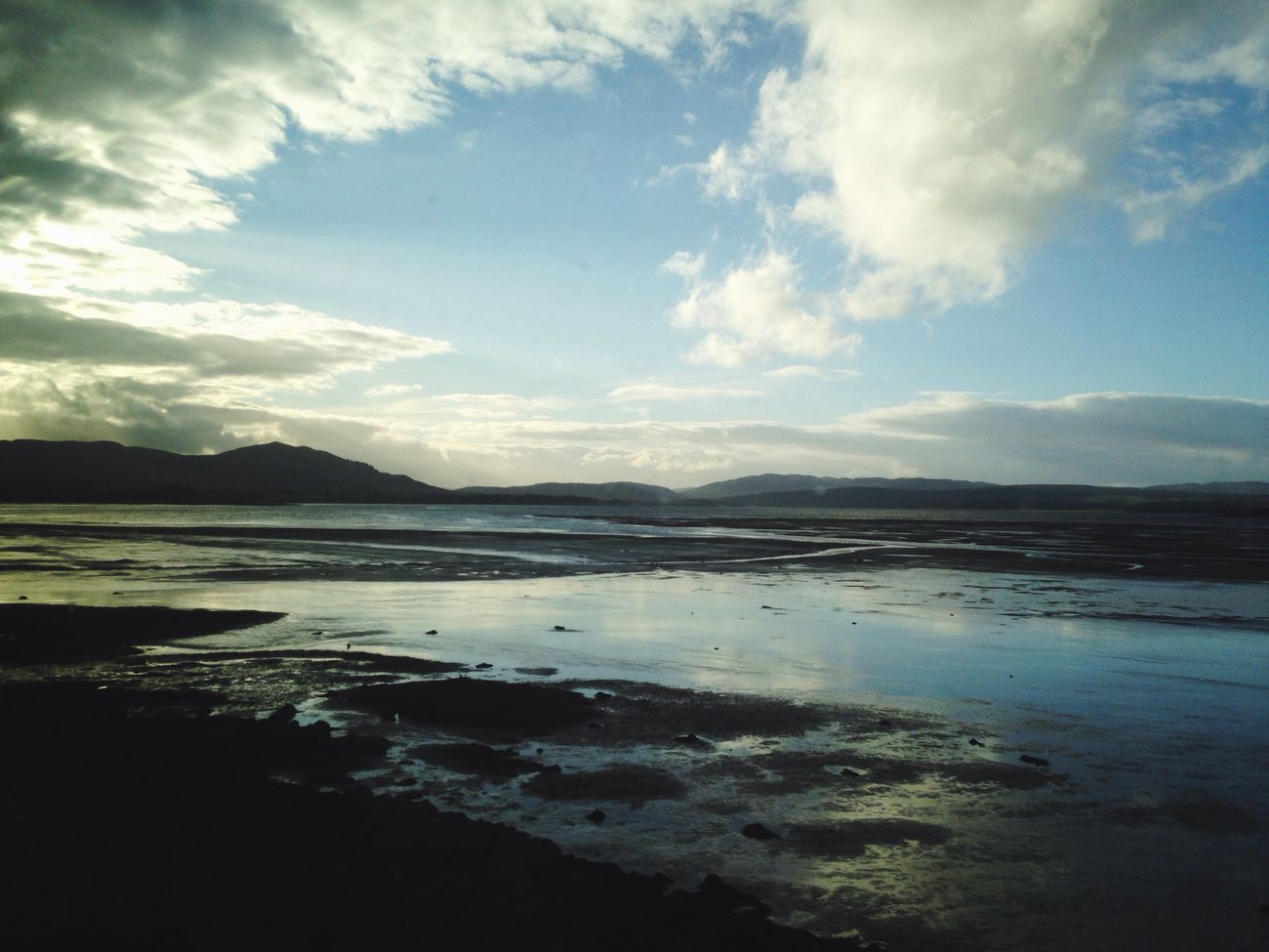 Beauly Firth at sunset, water and sky