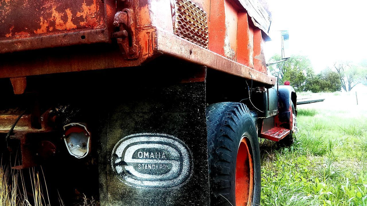 No People Day Outdoors Rust Dump Truck Overgrown Neglect Farming International Harvester Springtime Low Angle View Forgotten