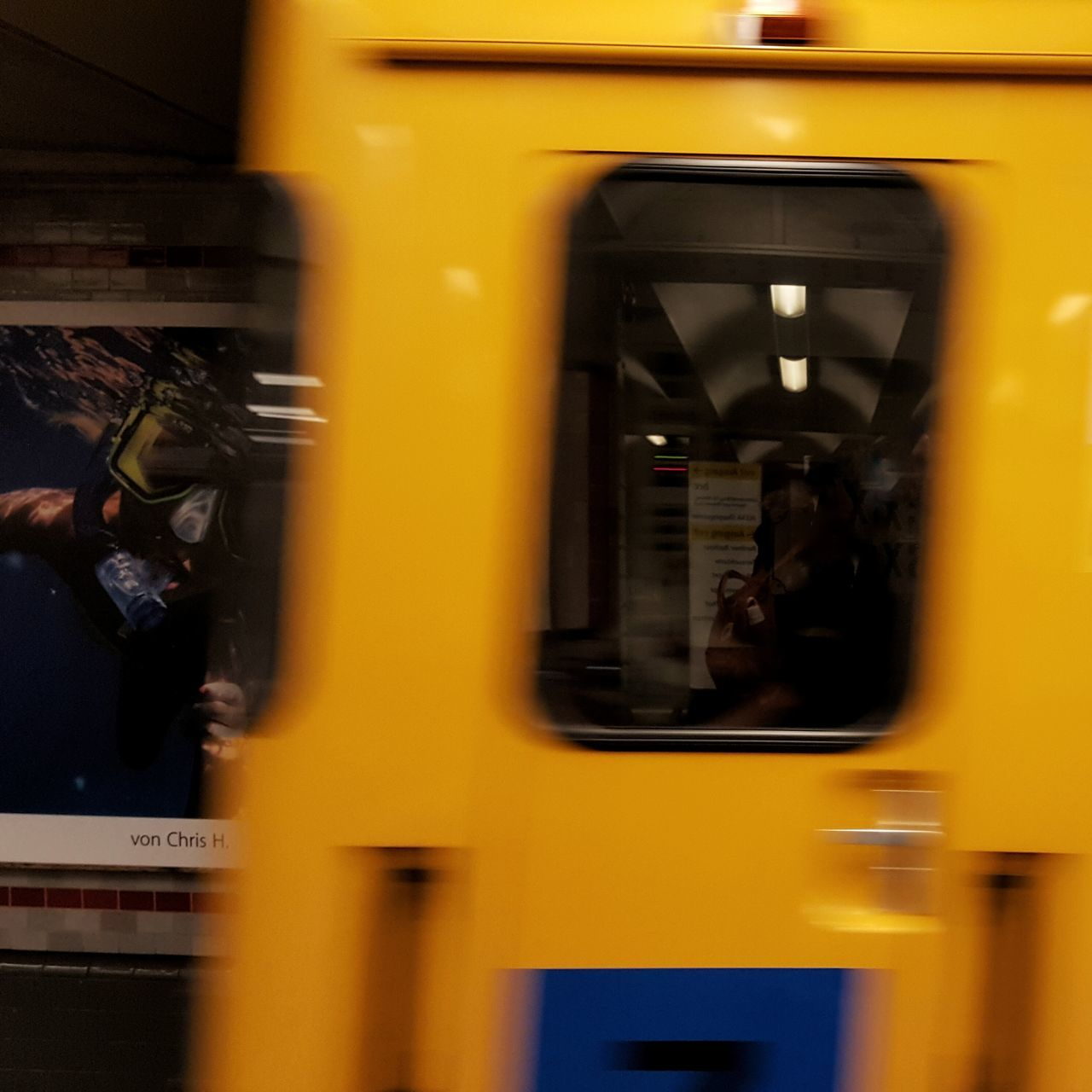 yellow, transportation, public transportation, mode of transport, train - vehicle, metro train, passenger train, bus, subway station, subway train, land vehicle, indoors, vehicle seat, no people, day
