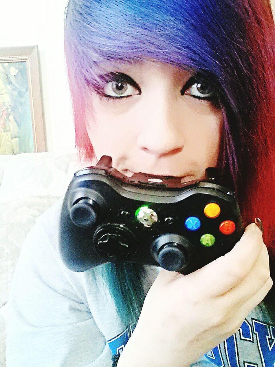 "Nothing says ""good afternoon"" like playing Skyrim. Playing Skyrim Xbox360"