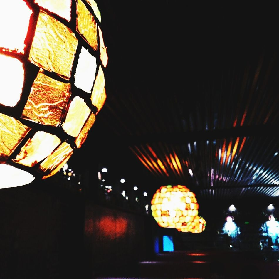 Night Illuminated Indoors  No People Light Hanginglights Interior
