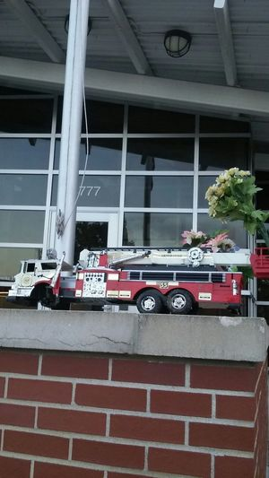 Memorials at Fire Station In Kansas City, Missouri USA