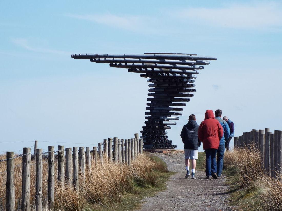 Pipes Tubes Landmark Pennines Pennine Moors Sculpture