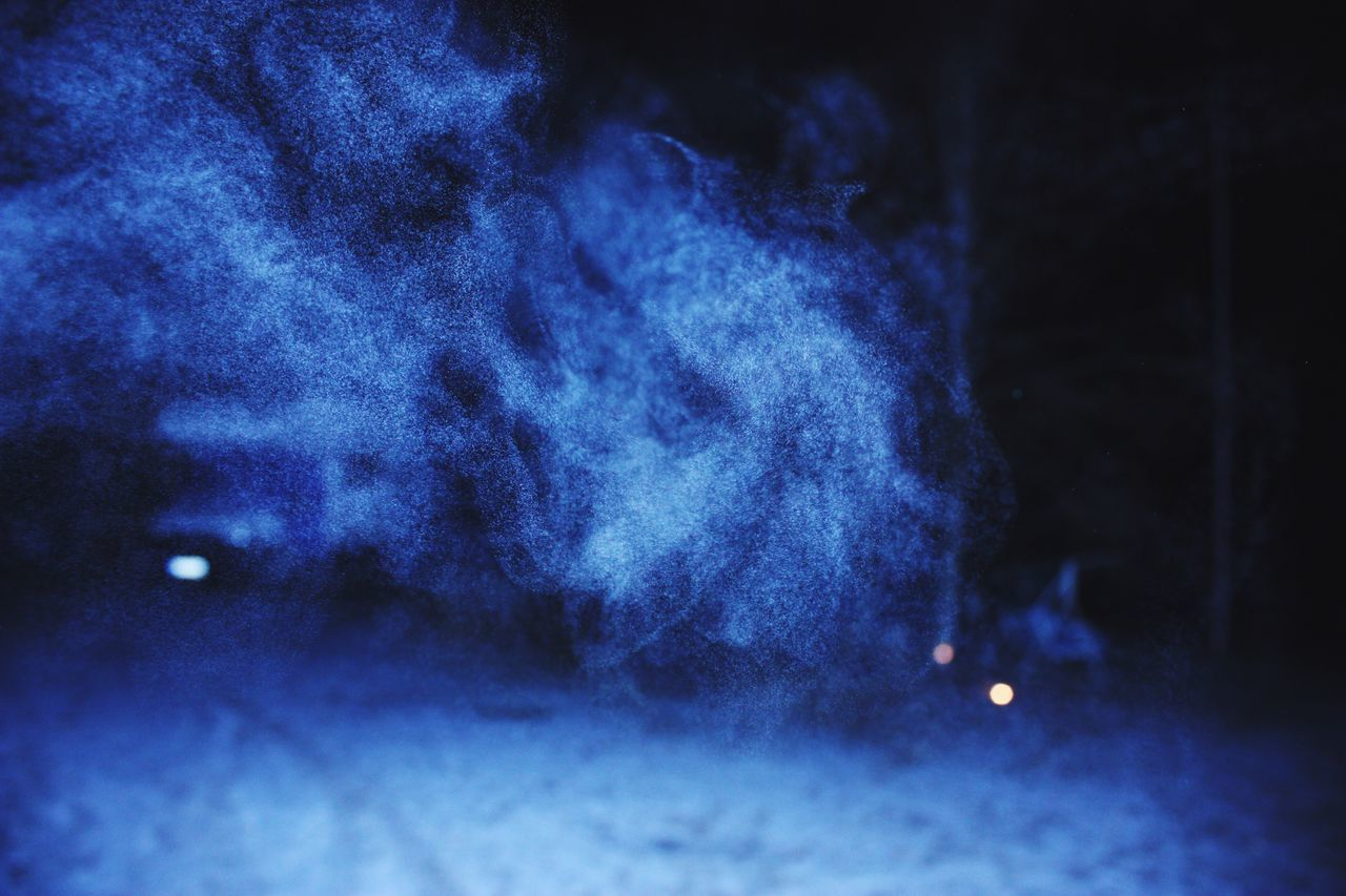 Winter frost Cold Temperature Blue Night Nature Beauty In Nature No People Test Shot Ice Age