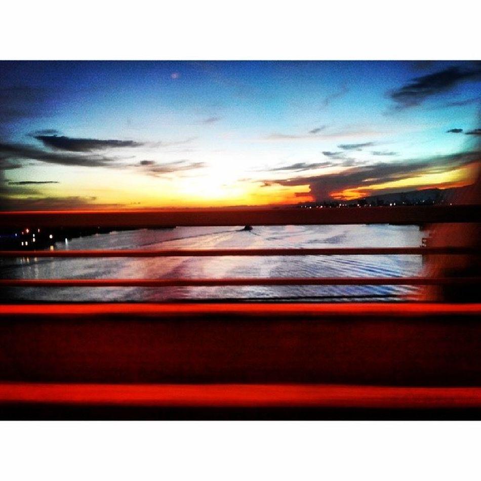 Mactan Bridge Sunset Sunset Mactan Bridge Mactanbridge beautiful nature mothernature heavenly soothing ocean sunday love life passion igers igersasia Philippines Cebu pinoy iglike iglove igdaily potd Lenovo photography pilipinasshoutout