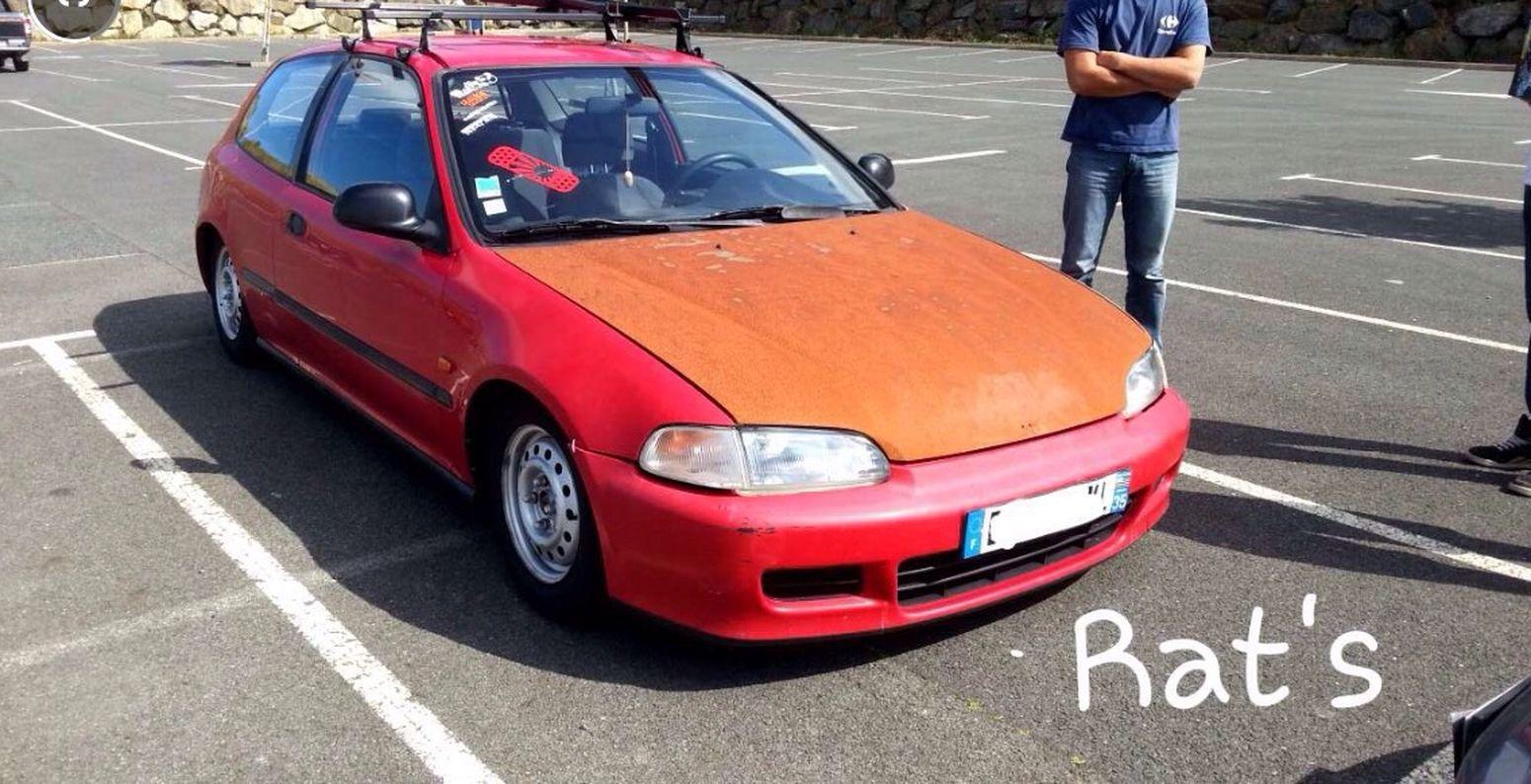 Enjoying Life Rust Honda Civic Rouille Eg3