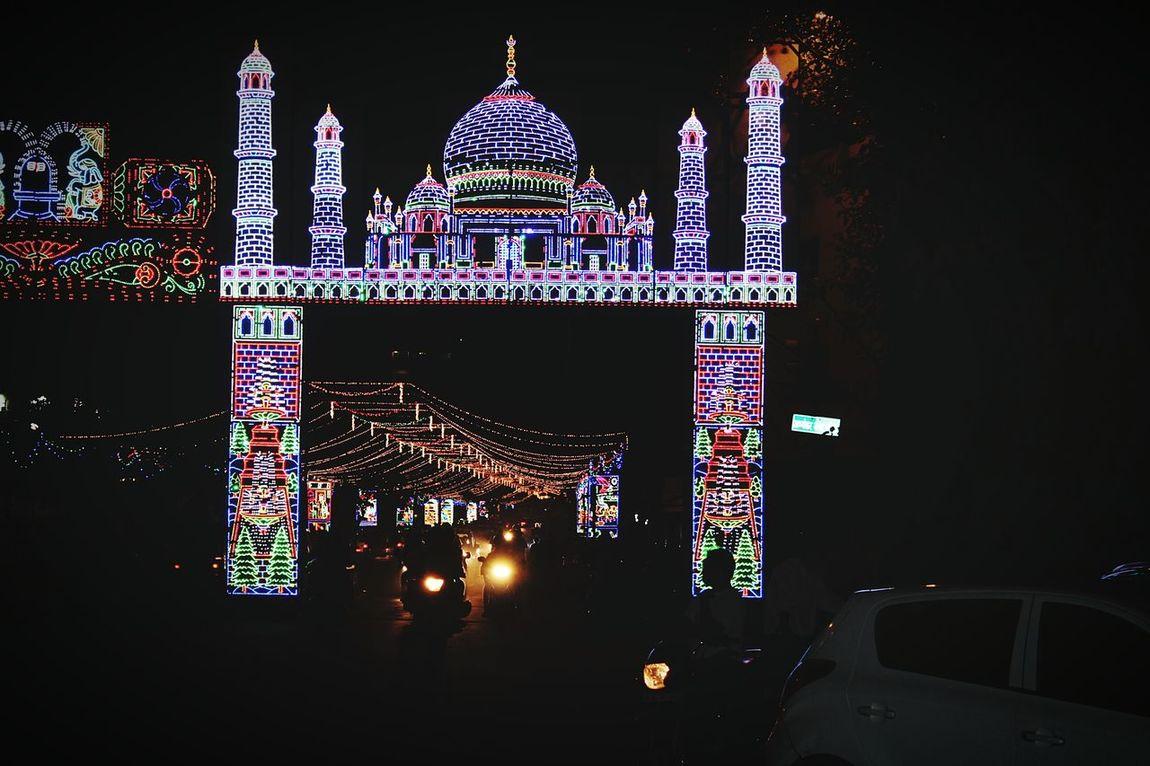 Decoration Lights Taj Mahal Appearance Theme Navratri2016 Gateway Colors Of Festival