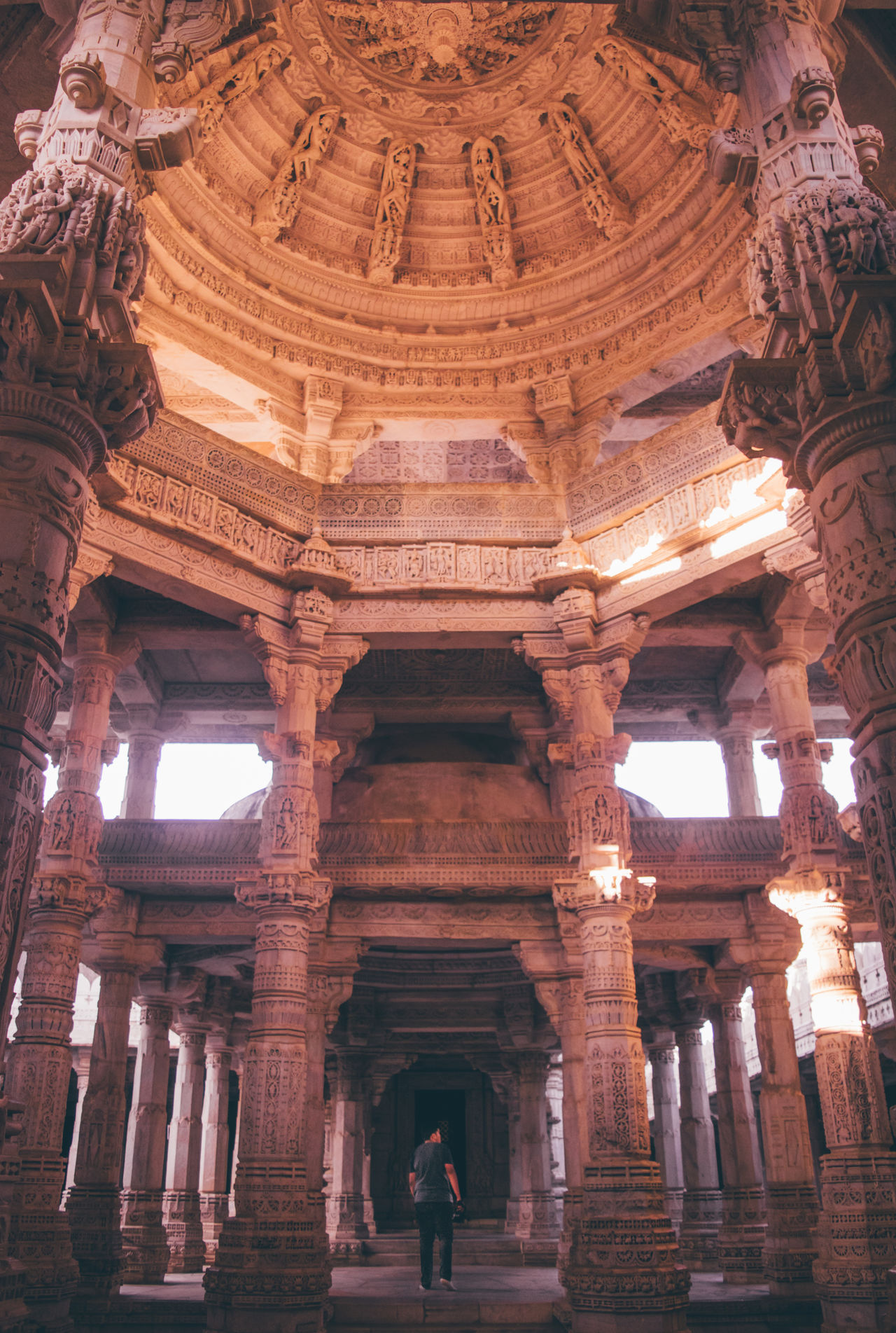 Do not live in the shadows of masters forever, learn to live in the light of your soul. Architecture Built Structure Architectural Column History Ranakpur Ranakpur Jain Temple Rajasthan Travel Destinations Beauty Sunset Architecture Tones