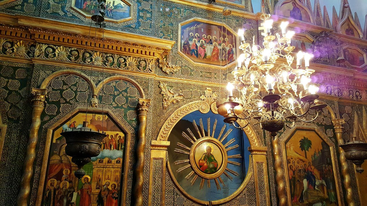 Low Angle View Architecture Tourism No People Travel Destinations Place Of Worship Architecture And Art Moscow Religion Spirituality Ortodox Church Orthodox Church Russia St. Basil's Cathedral In Moscow St. Basil's Cathedral Inside PhotographyChurch Multi Colored Orthodox Cathedral Painting