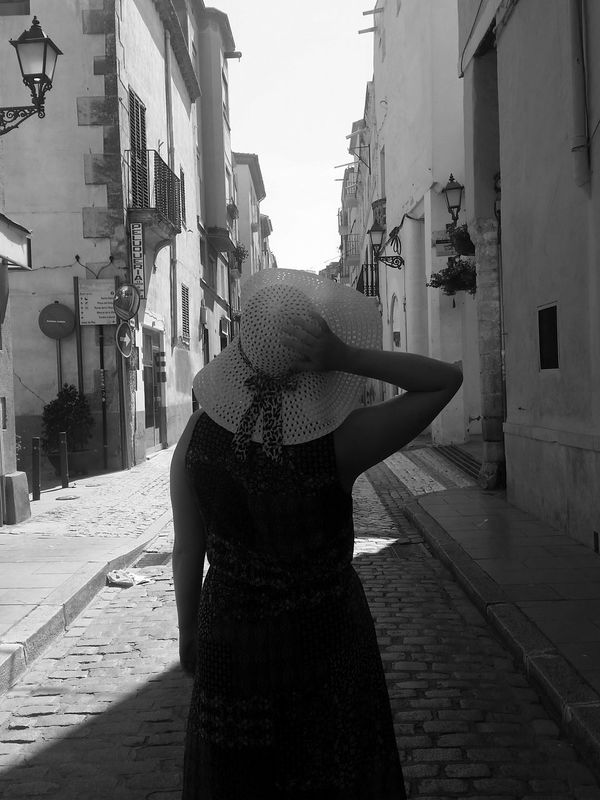 People Outdoors Only Women Architecture Black And White Streetphotography One Person City Street Photography Art And Craft Spanien España SPAIN ESP Art, Drawing, Creativity I LOVE PHOTOGRAPHY Check This Out