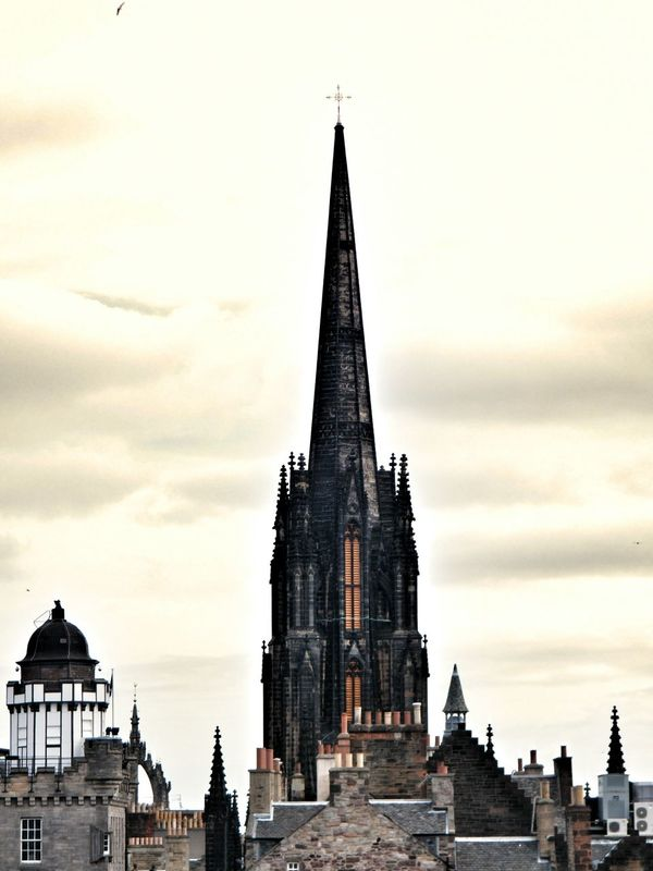 Edinburgh Scotland Church The Hub Bell Tower Belfry Tower Landscape Rooftops Rooftop Scenery Gothic Architecture Gothic Church Architecture Architecture_collection Built Structure Taking Photos Cityscapes Outdoors Check This Out EyeEm Gallery No People