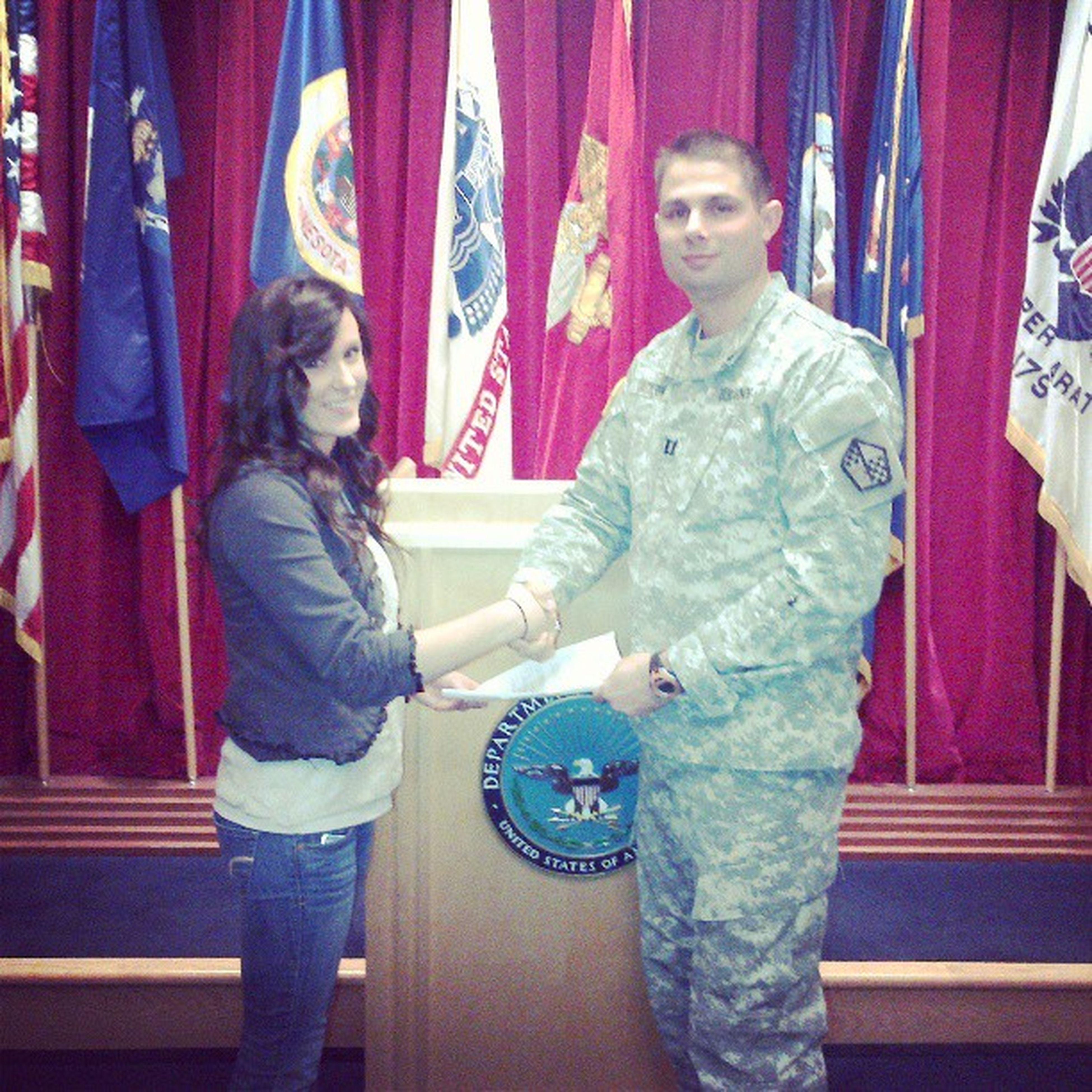 Two months of hurry up and wait and I finally get to swear in. Army Nationalguard Military