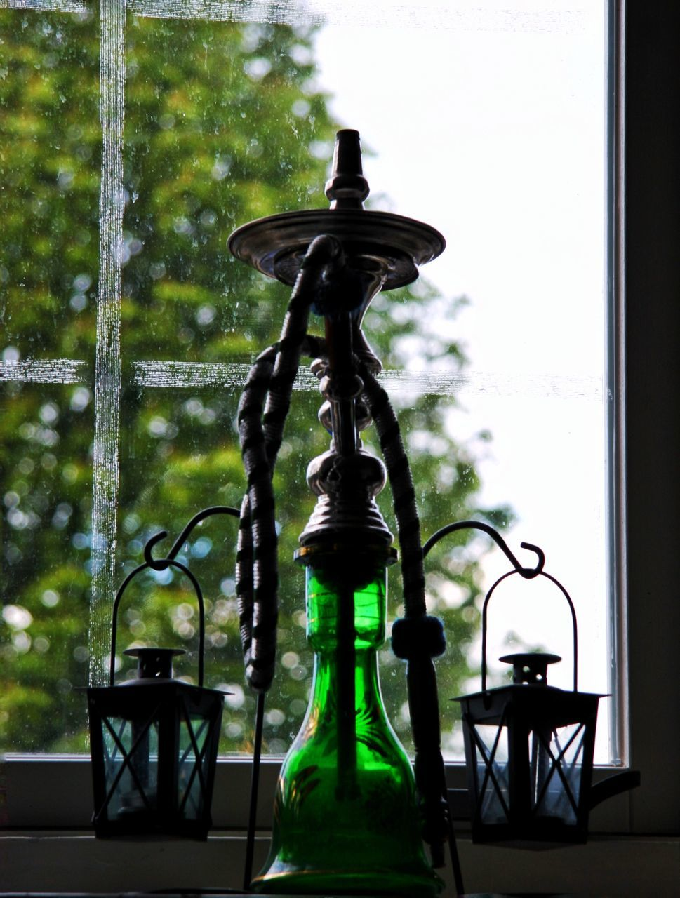 bottle, no people, indoors, green color, day, close-up, nature, tree