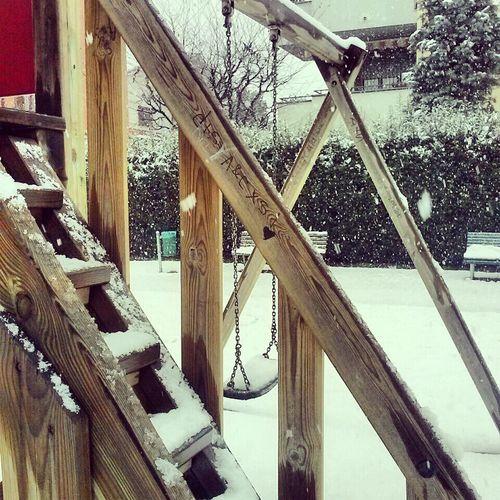 Alone Snow Altalena Legno