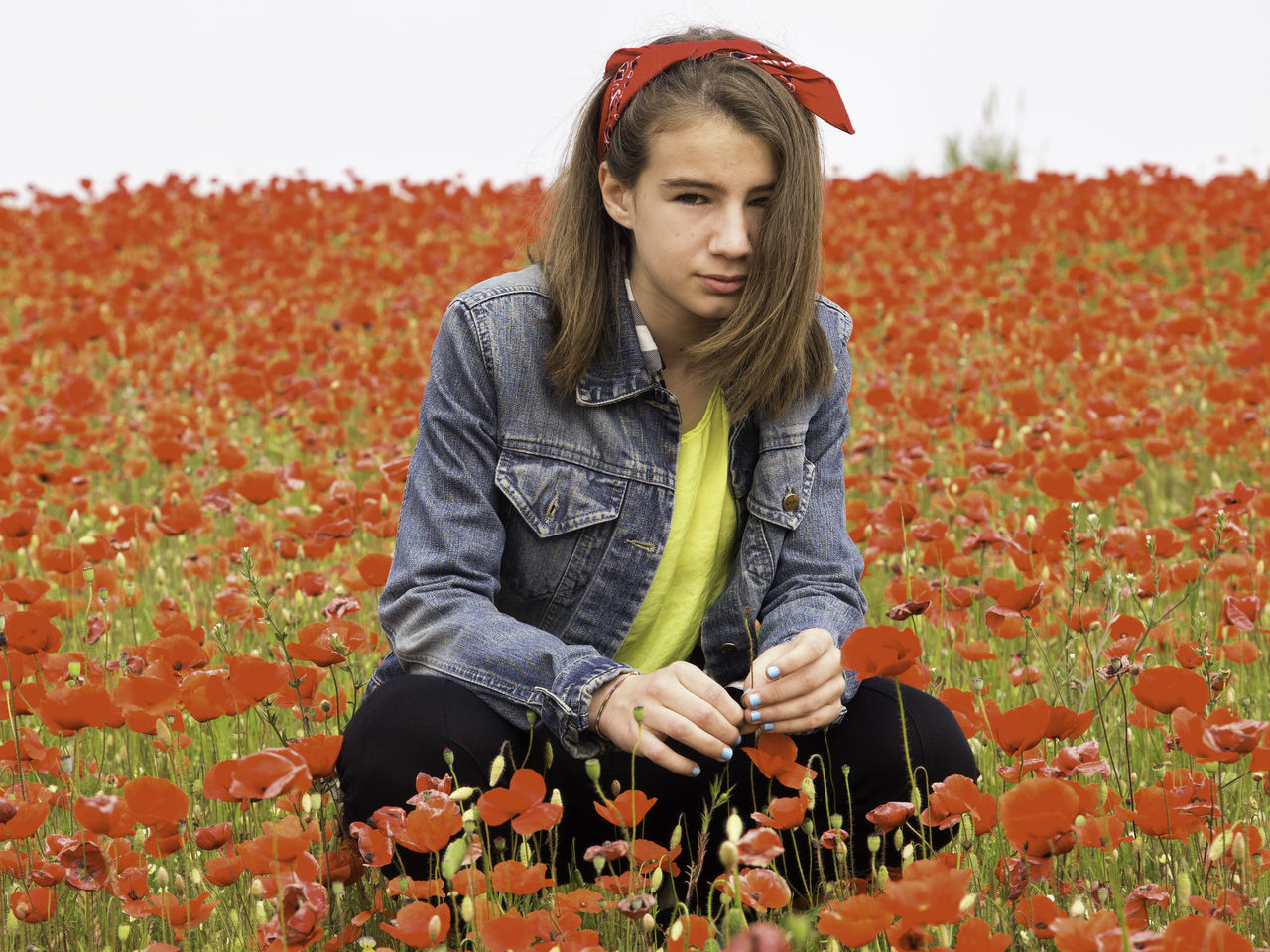 Growing love Beauty In Nature Casual Clothing Exceptional Photographs EyeEm Best Shots EyeEm Gallery EyeEm Masterclass Irene Kid Leisure Activity Lifestyles Little Girl Looking At Camera Love Outdoors Person Poppies  Poppy Field Portrait Season  Spring Springtime Teenager Girl Power
