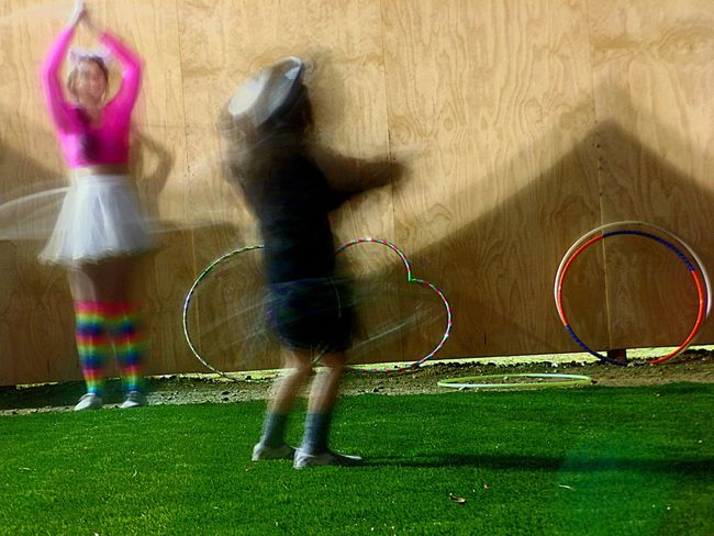 Capturing Motion Grass Childhood Fun Full Length People Horizontal One Person Day Outdoors Nightlife Hullahoop Traveling Carnival Check This Out Spinning In Circles Fun