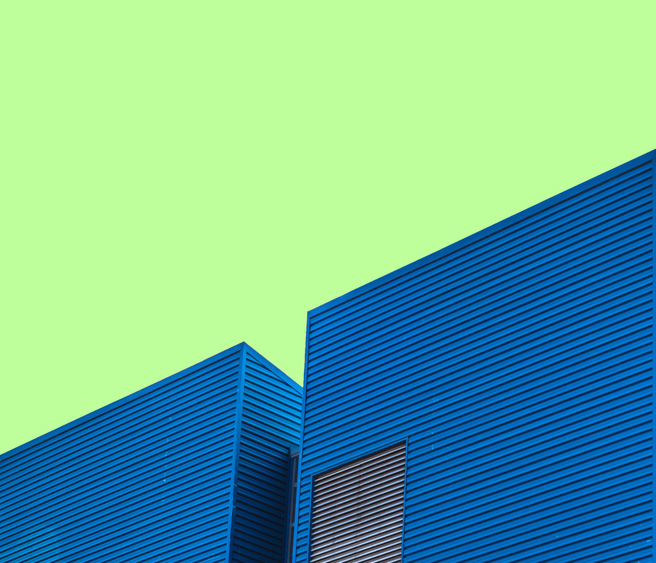 Factory Architecture Blue Building Exterior Built Structure City Clear Sky Day Factory Green Color Low Angle View Minimal Minimalism Minimalism Photography Minimalist Minimalist Architecture Minimalist Photography  Minimalistic Minimalmood Minimalobsession Modern No People Outdoors Skyscraper Wall Warehouse Minimalist Architecture