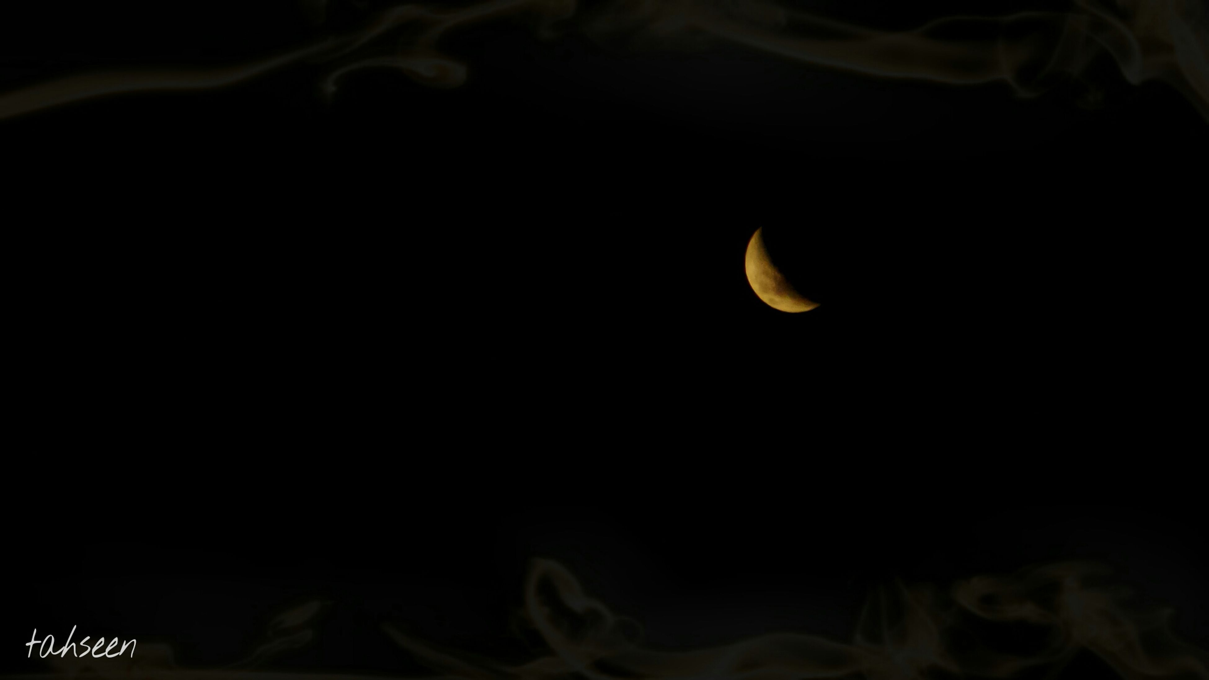 night, moon, copy space, dark, black background, illuminated, full moon, astronomy, beauty in nature, nature, low angle view, clear sky, moonlight, tranquility, planetary moon, silhouette, scenics, close-up, sky, tranquil scene