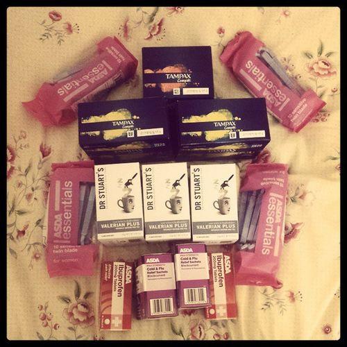 Ready to go home Stockpiling Valeriantea Tampax Yesiuseasdarazors Blackcurrantlempsip Ibuprofen Expatproblems