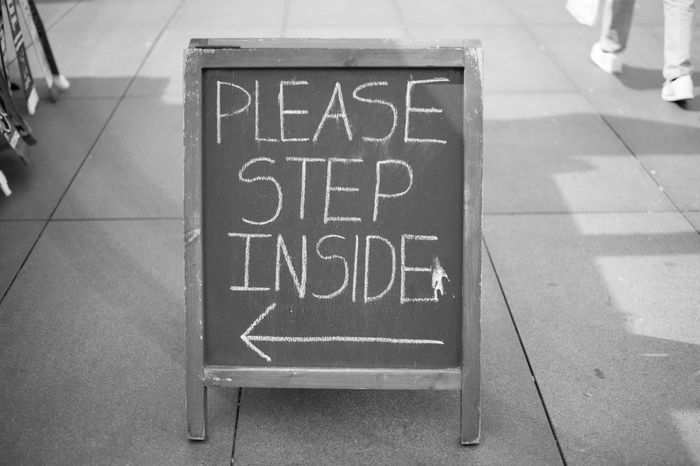 Step inside Travel Photography Urban Exploration Urbanphotography Urban Photography Street Photography Black And White Streetphoto_bw Black And White Photography Traveling Destination Unknown Sign Signage Signboard Signs_collection